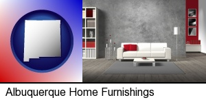 Albuquerque, New Mexico - home furnishings - 3d rendering