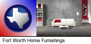 Fort Worth, Texas - home furnishings - 3d rendering