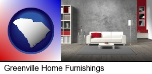 Greenville, South Carolina - home furnishings - 3d rendering
