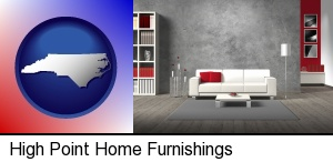 High Point, North Carolina - home furnishings - 3d rendering