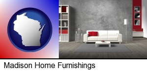 Madison, Wisconsin - home furnishings - 3d rendering