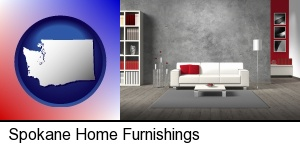 Spokane, Washington - home furnishings - 3d rendering