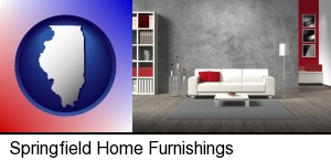 Springfield, Illinois - home furnishings - 3d rendering