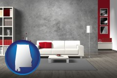 alabama home furnishings - 3d rendering
