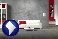 washington-dc home furnishings - 3d rendering