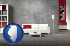 illinois home furnishings - 3d rendering