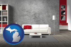 michigan home furnishings - 3d rendering