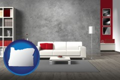 oregon home furnishings - 3d rendering