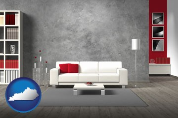 home furnishings - 3d rendering - with Kentucky icon