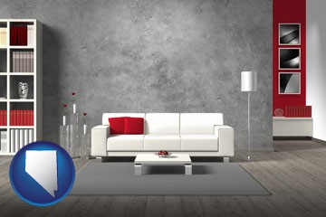 home furnishings - 3d rendering - with Nevada icon
